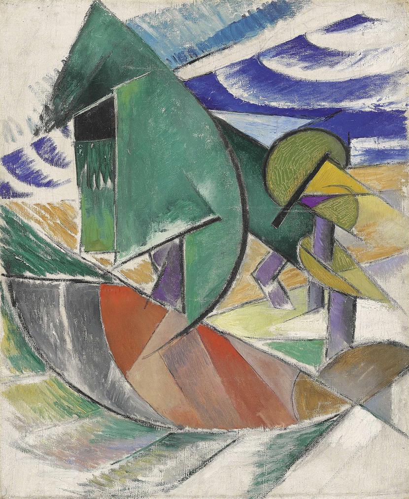 Marie Vassilieff - Composition Rayonniste-1917