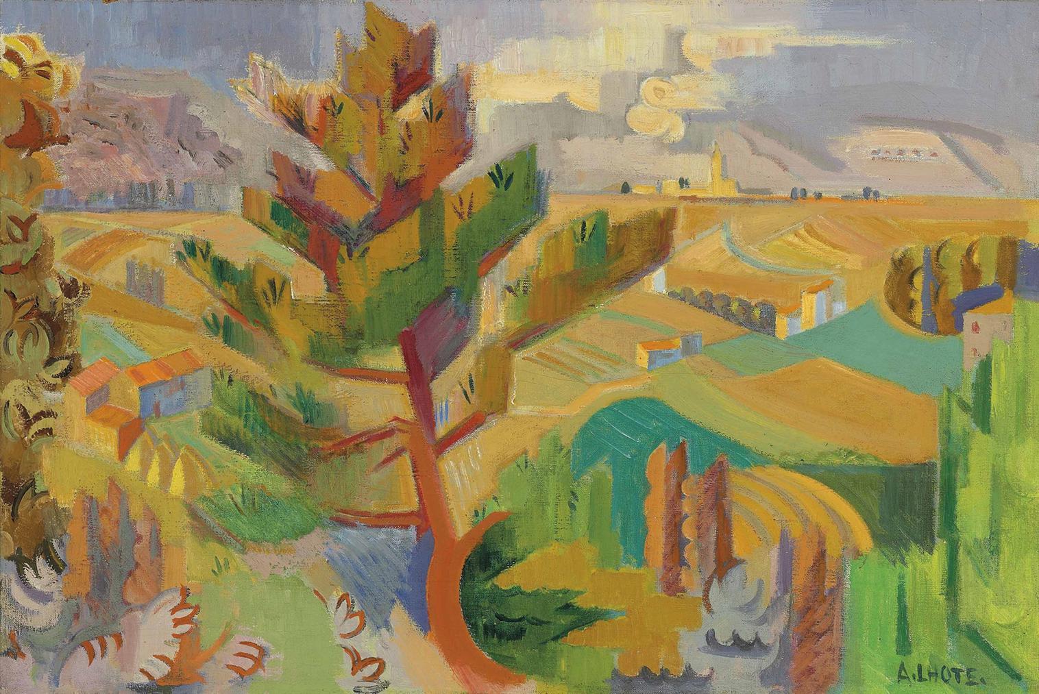 Andre Lhote-La Vallee Du Rhone-1938