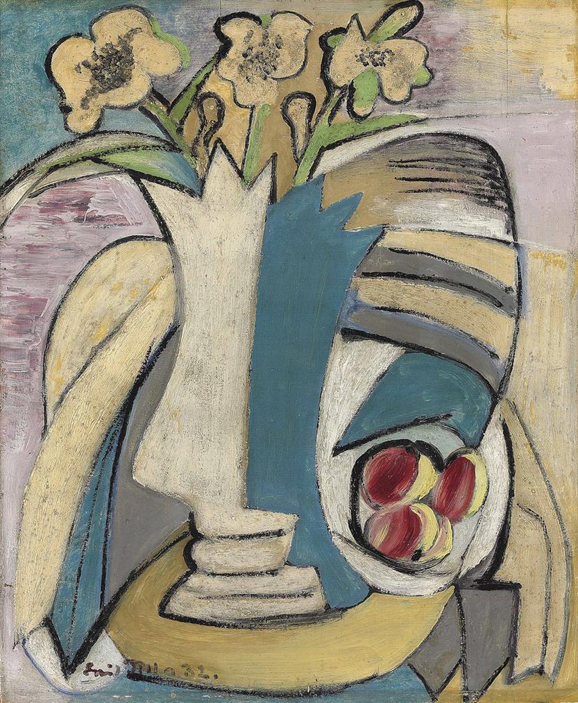 Emil Filla - Vaza S Kytici A Broskve-1932