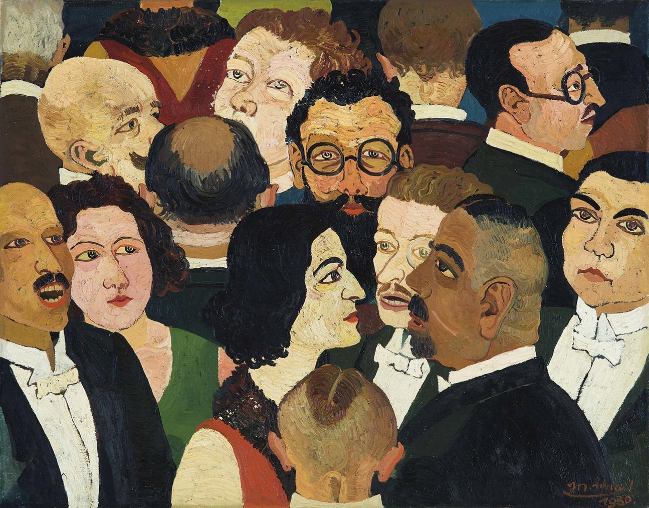 Josef Scharl-Grosse Gesellschaft (Theaterpause)-1930