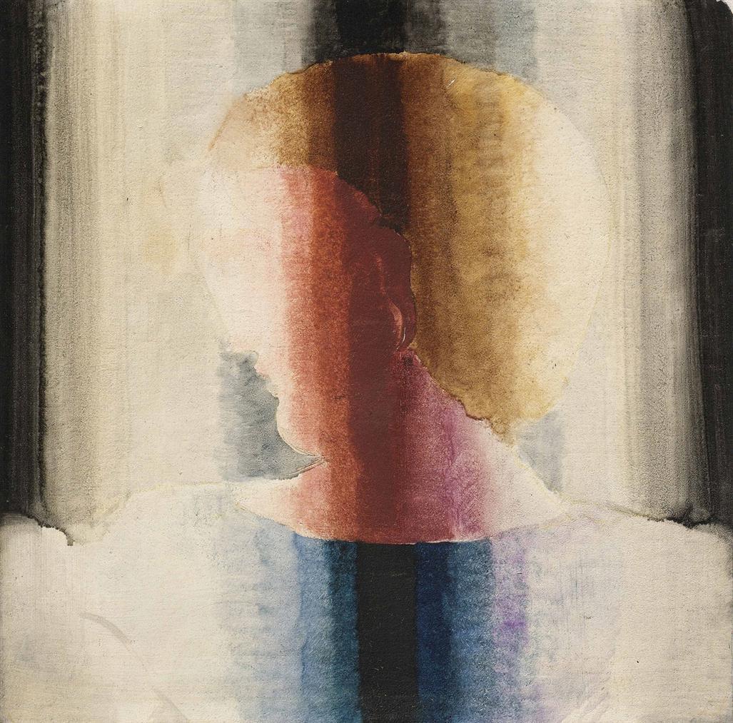 Oskar Schlemmer-Brustbild Nach Links In Hell-Dunkel-Streifen-1932