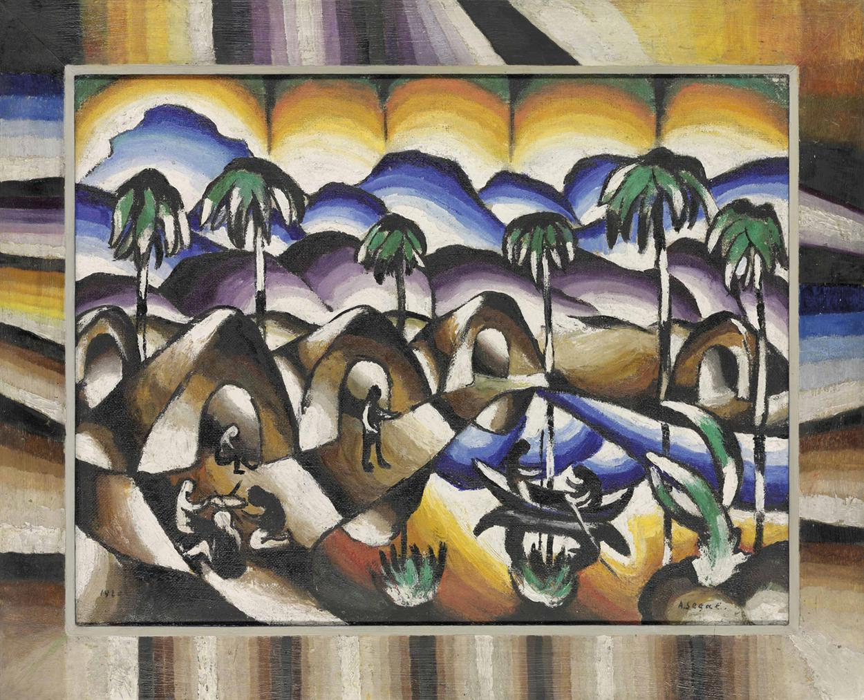 Arthur Segal-Ein Dorf-1920