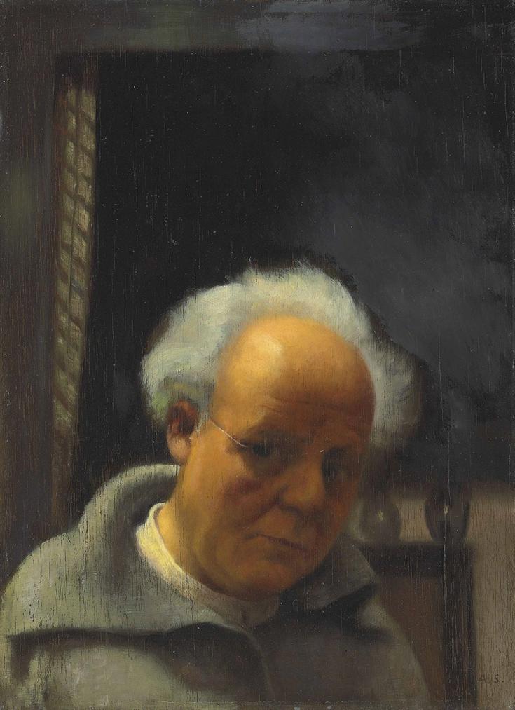 Arthur Segal-Selbstportrat Beim Kunstlichen Licht-1933