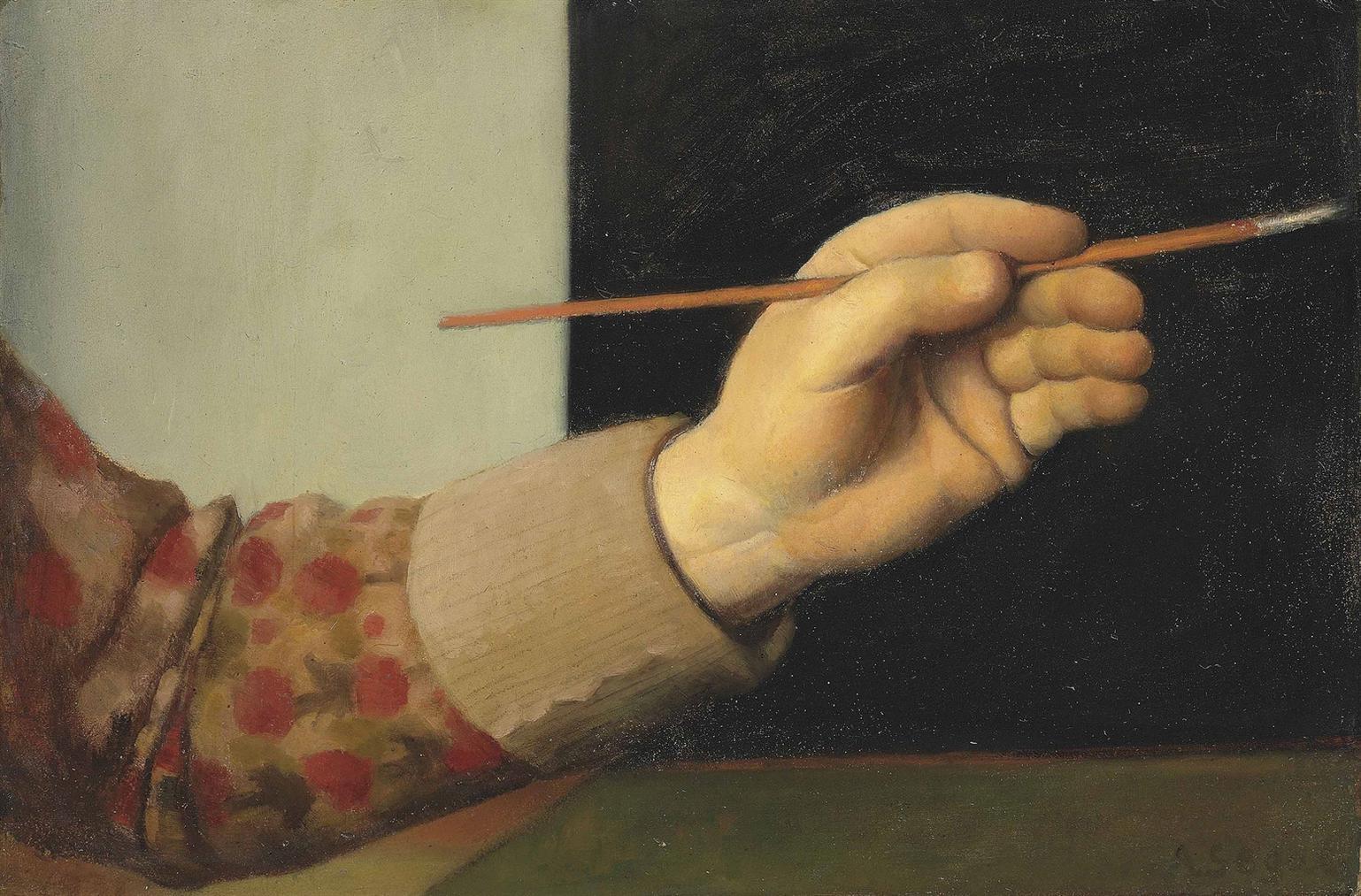 Arthur Segal-Hand Des Kunstlers Mit Pinsel-1933