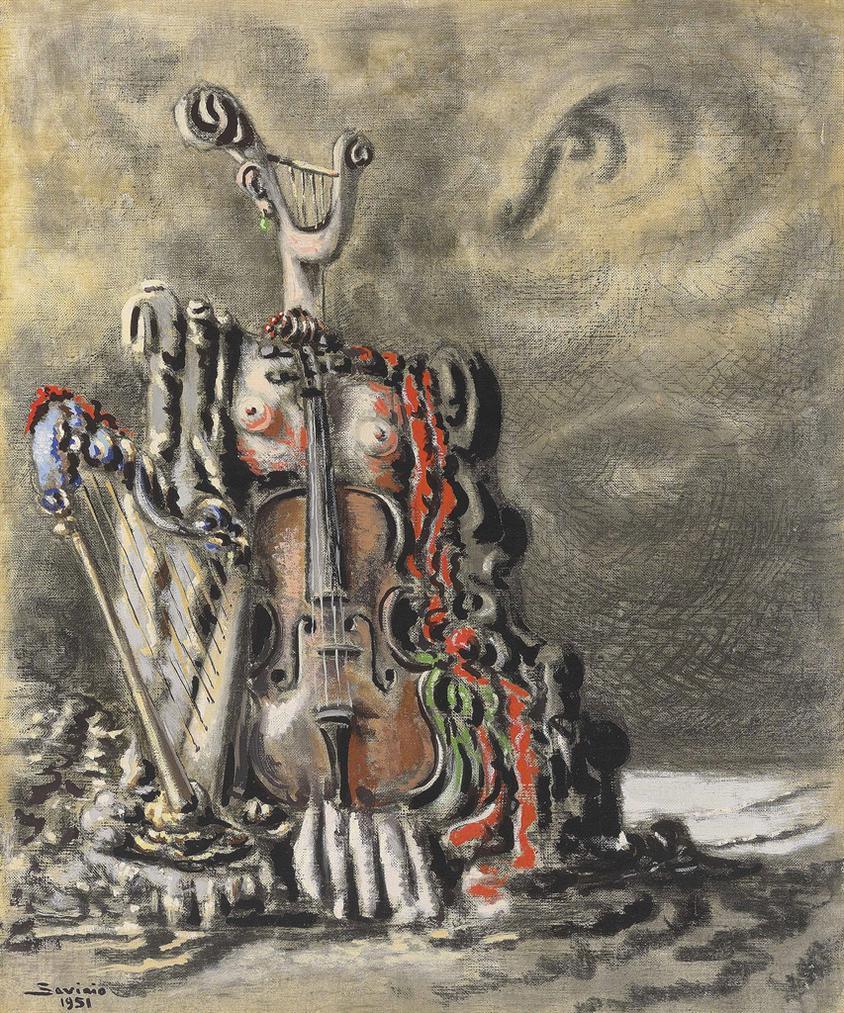Alberto Savinio-Monumento Alla Musica-1951