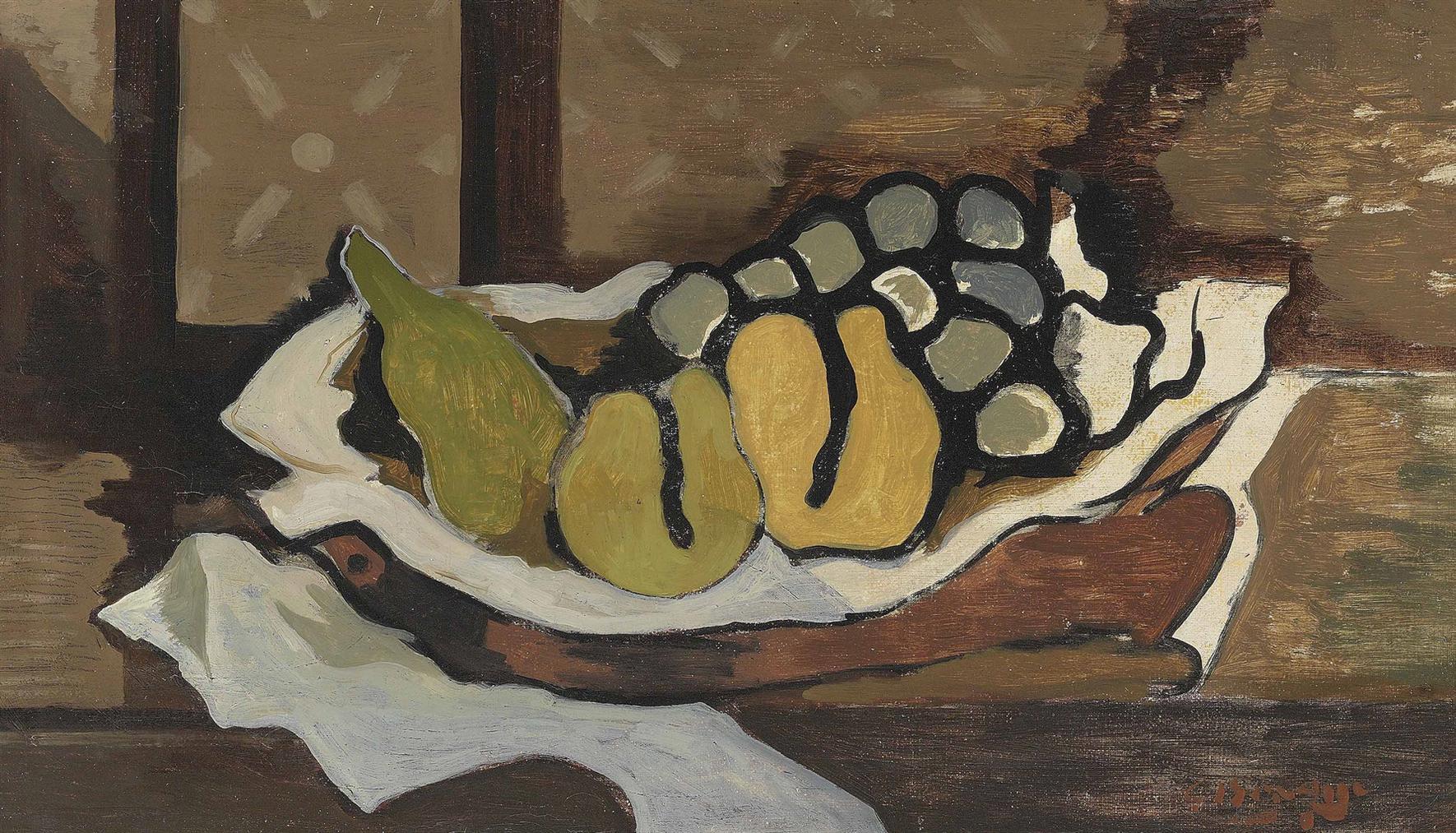 Georges Braque-Fruits Dans Un Plat-1924