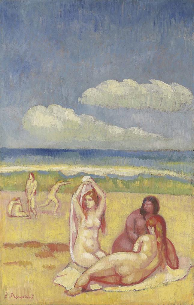 Emile Bernard-Baigneuses Sur La Plage-1896
