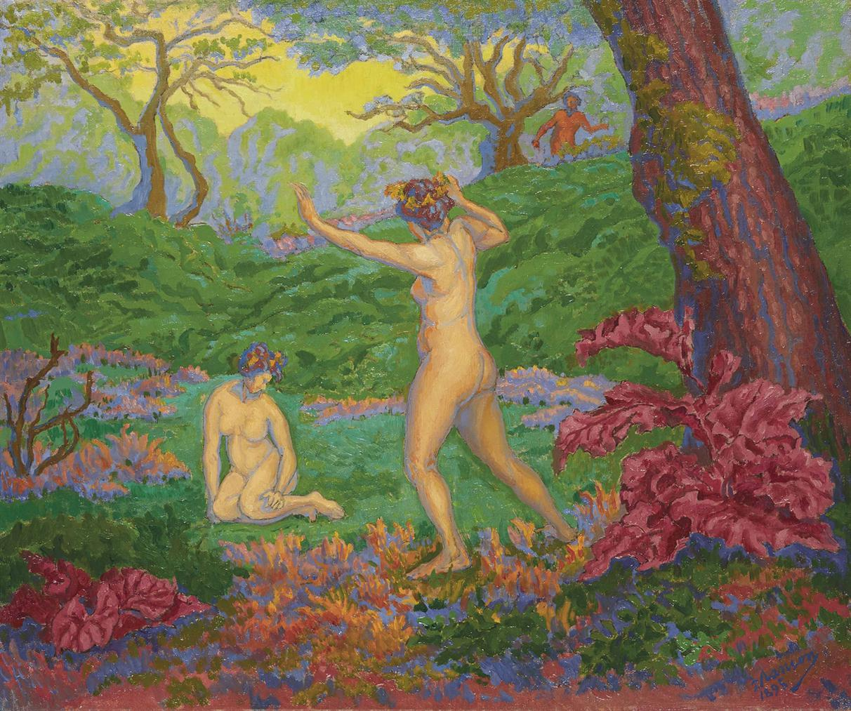 Paul Ranson - Le Faune Et Le Printemps-1895