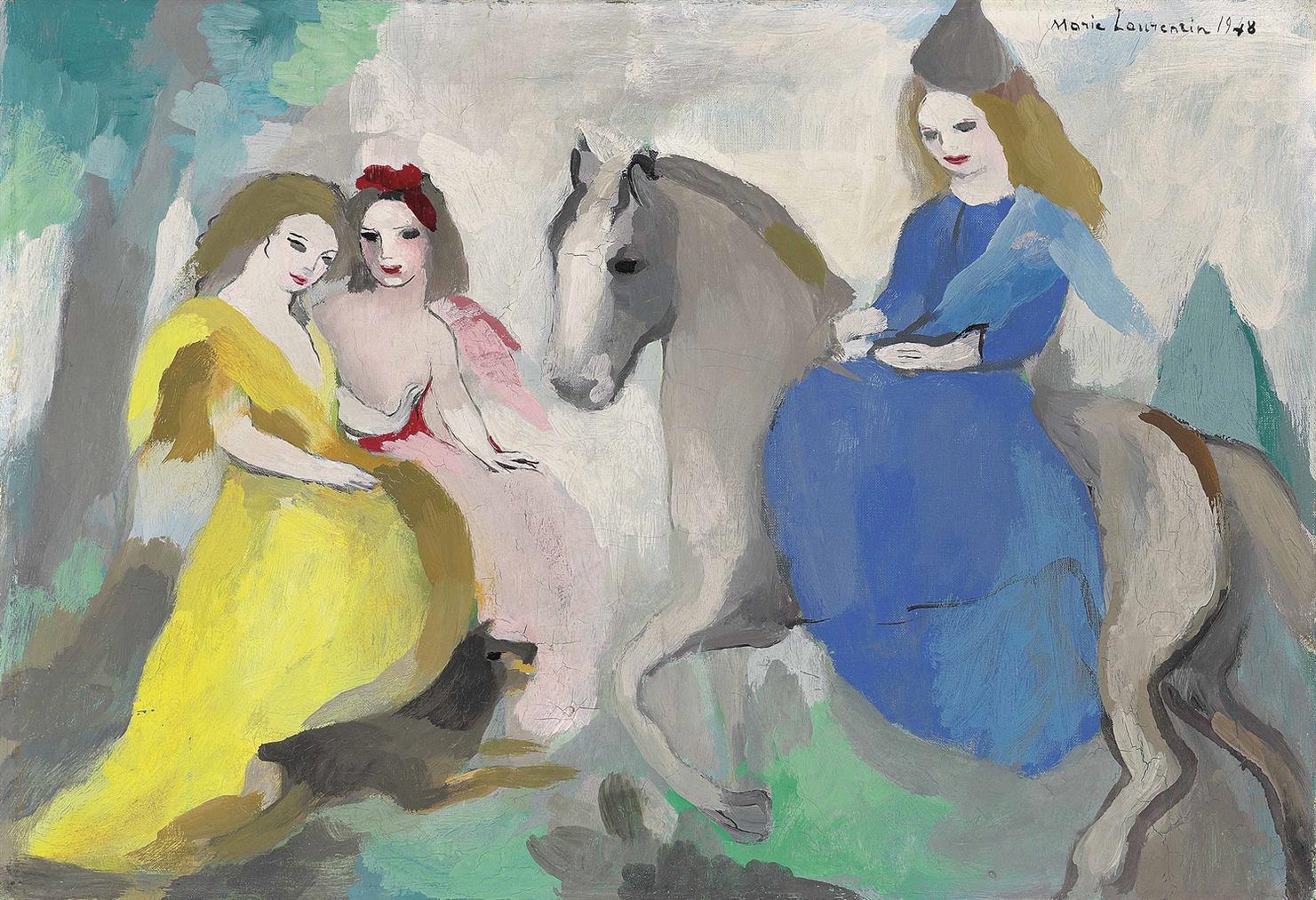 Marie Laurencin-Lamazone Et Deux Jeunes Filles-1948