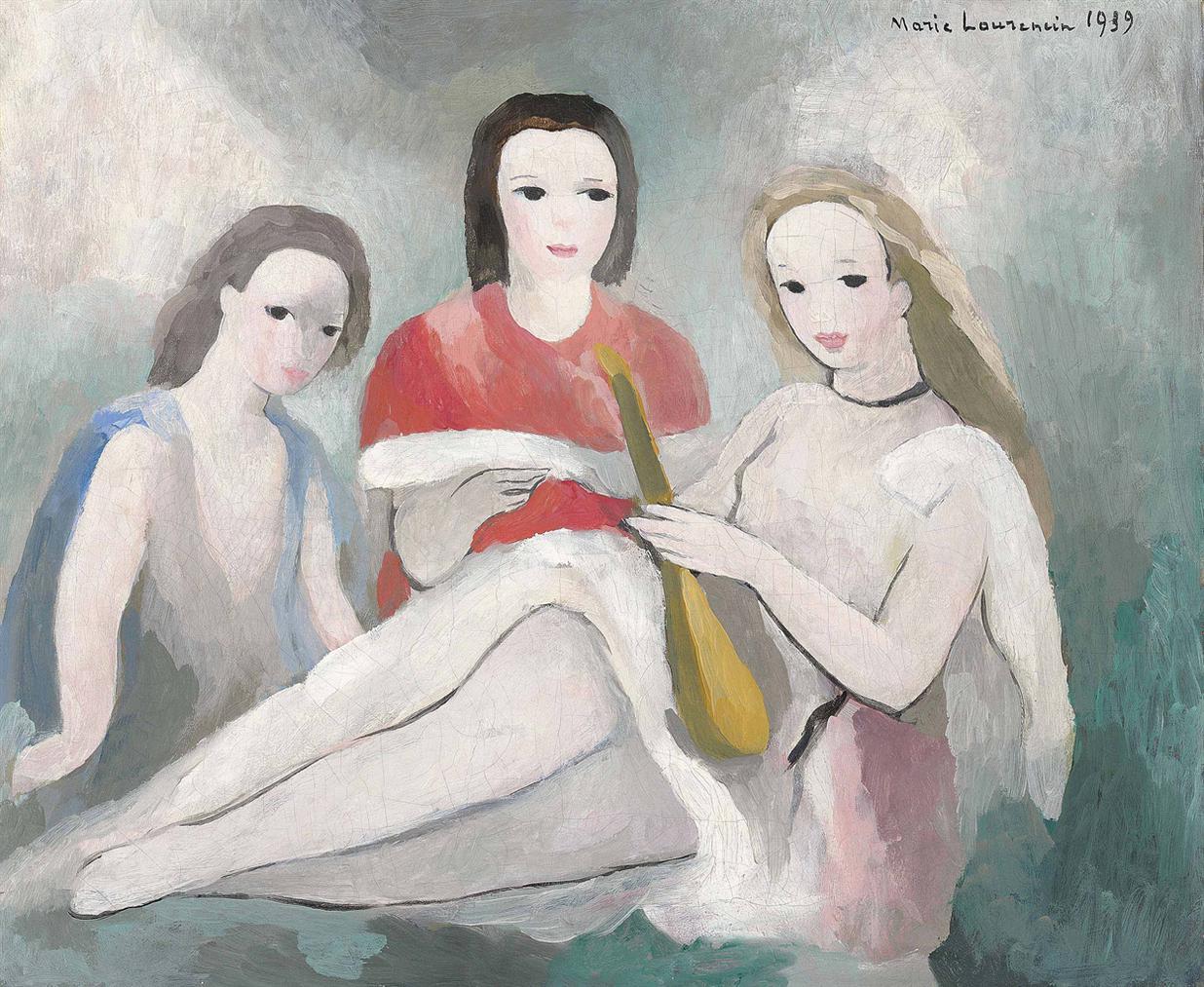 Marie Laurencin-Trois Jeunes Filles-1939