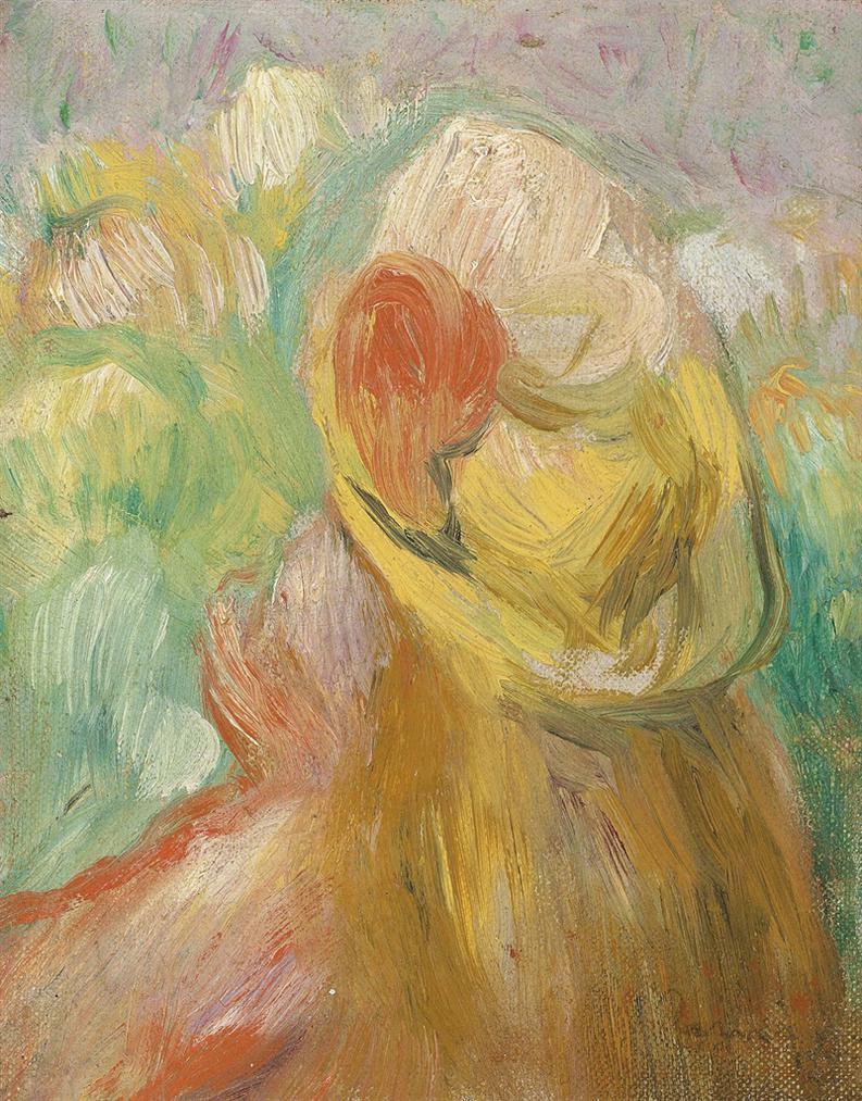Pierre-Auguste Renoir-Petit Fille Au Chapeau Jaune-