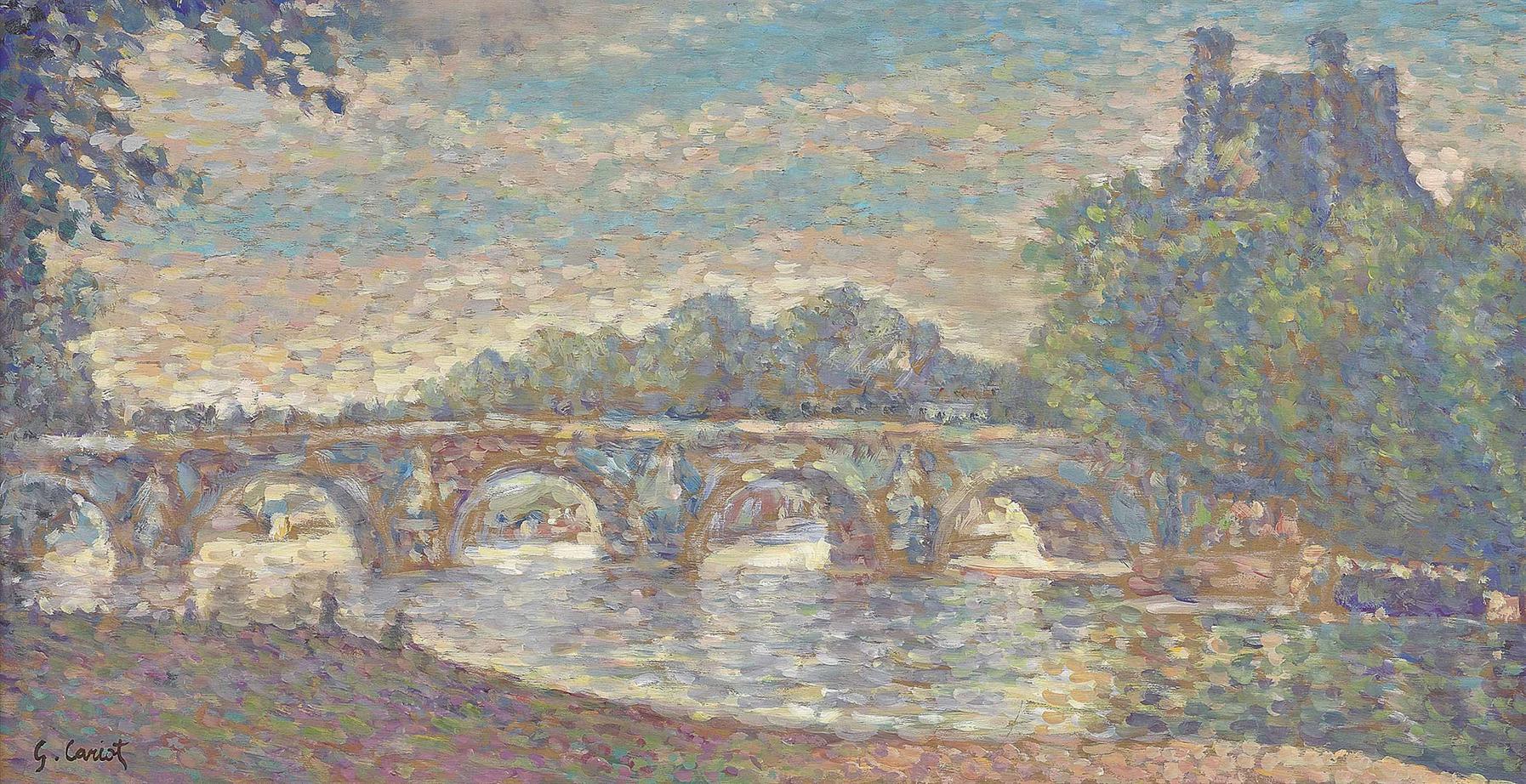 Gustave Cariot-Le Pont Royal, Paris-1900