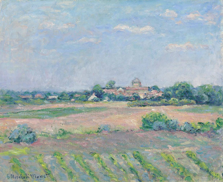 Blanche Hoschede Monet-Prairie Pres De Saint-Vincent-Sur-Jard-