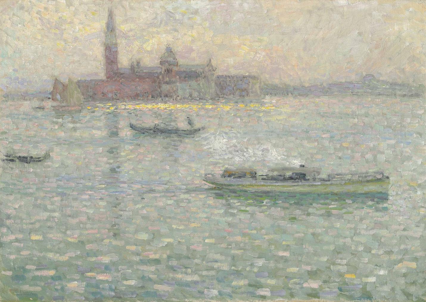 Henri Eugene Le Sidaner-San Giorgio Maggiore, Venise-1907