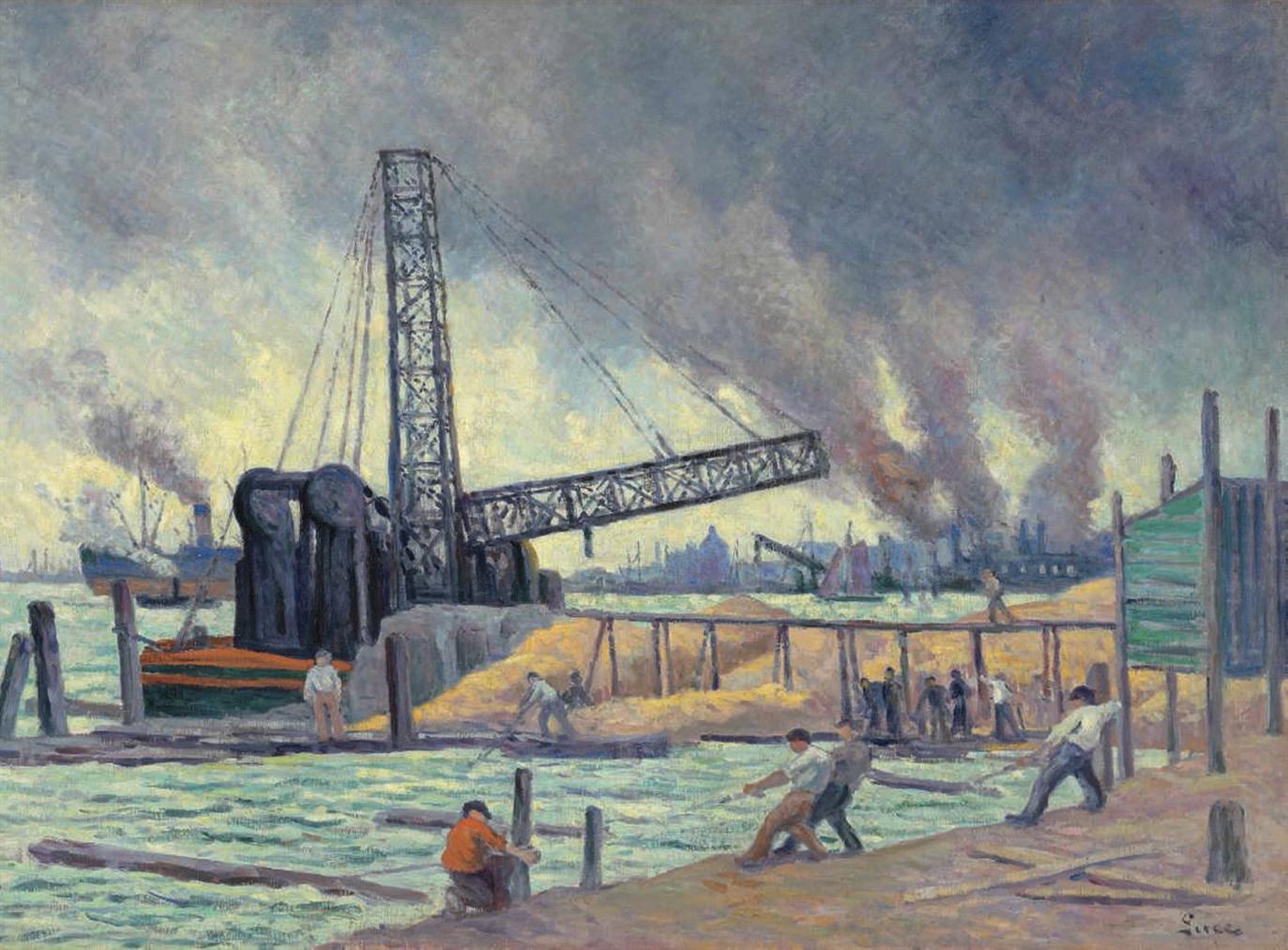 Maximilien Luce-Le Port De Rotterdam-1908