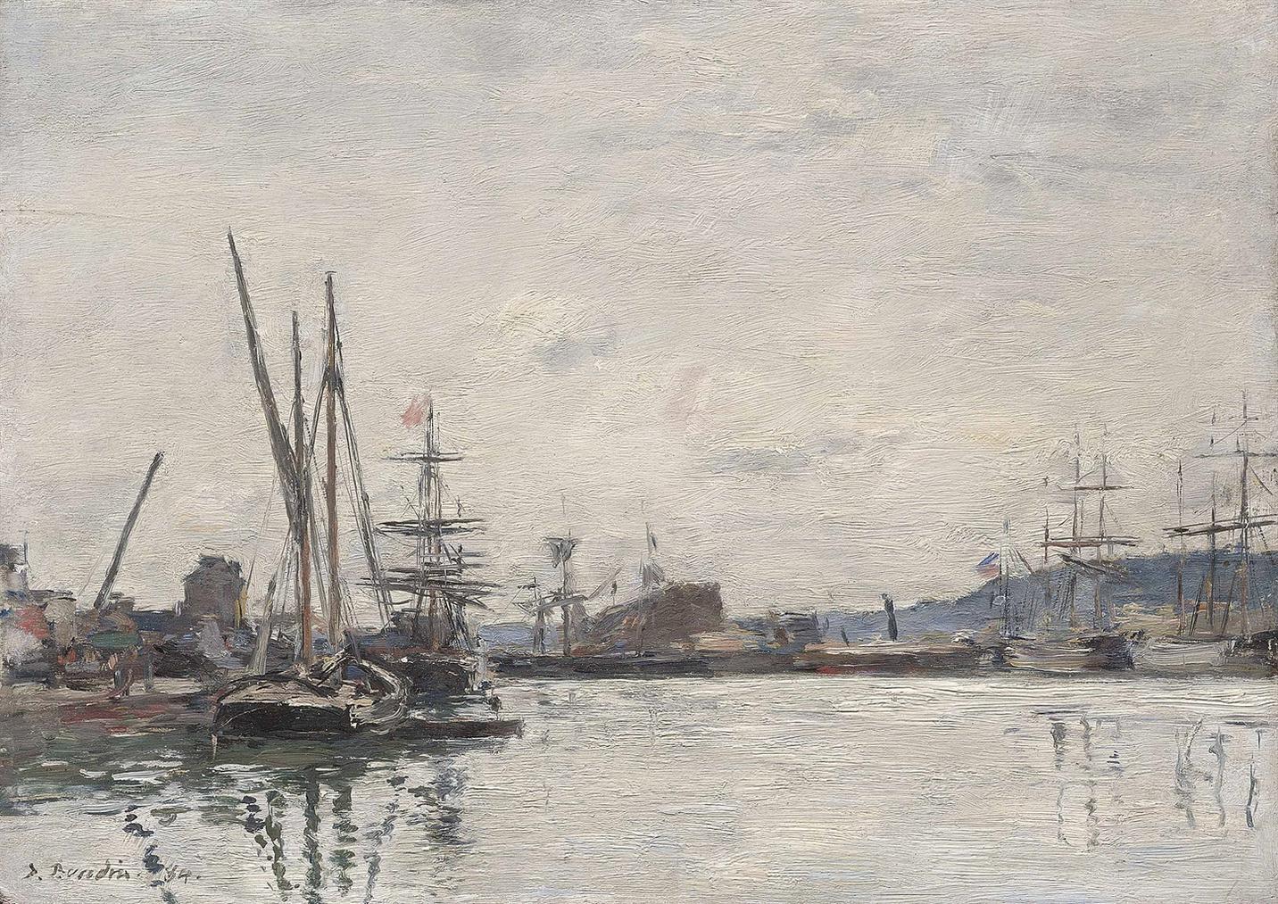 Eugene Louis Boudin-Deauville. Le Bassin-1884