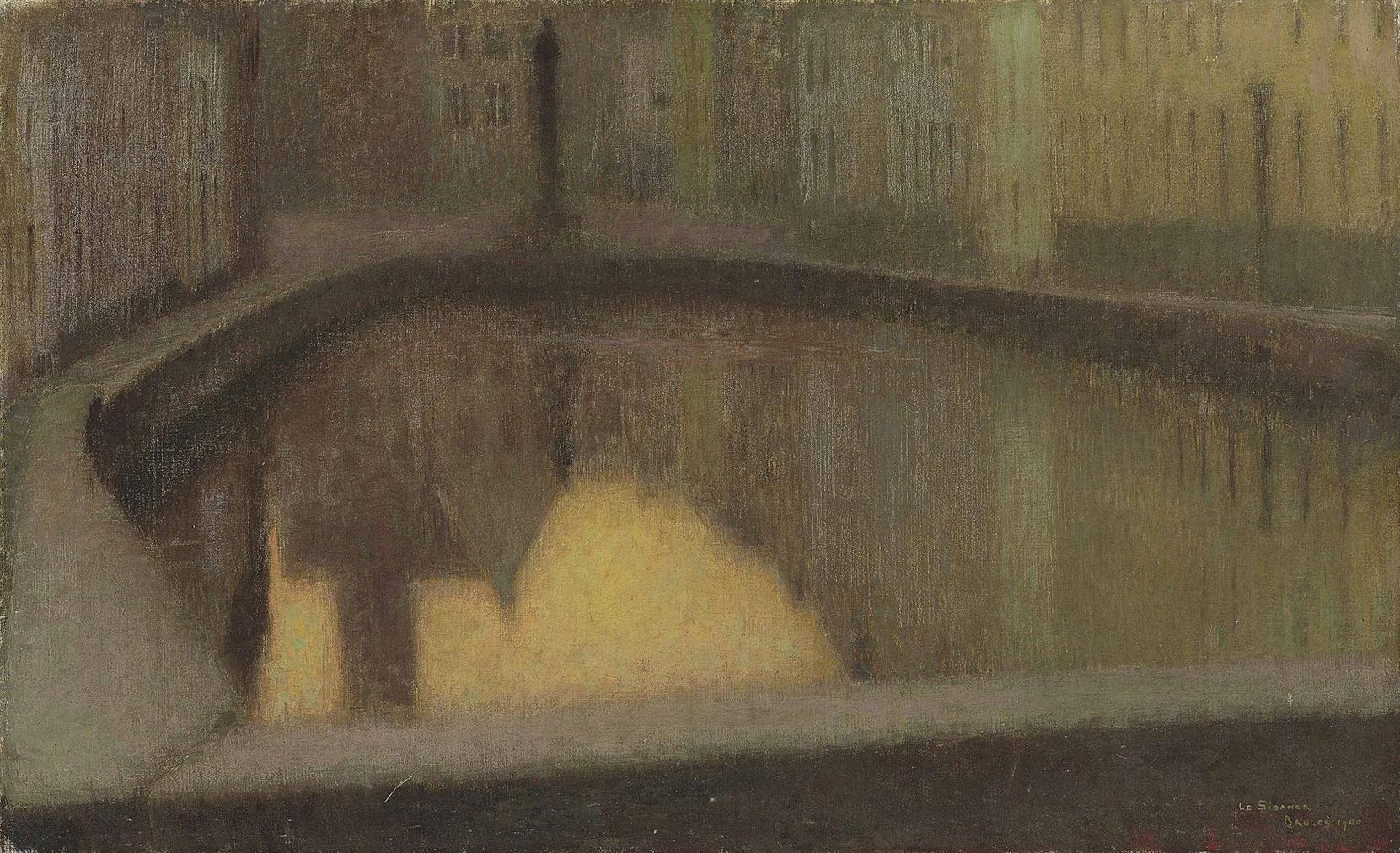 Henri Eugene Le Sidaner-Le Miroir, Bruges-1900