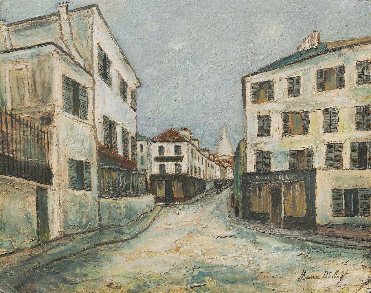 Maurice Utrillo-La Rue Norvins A Montmartre-1912