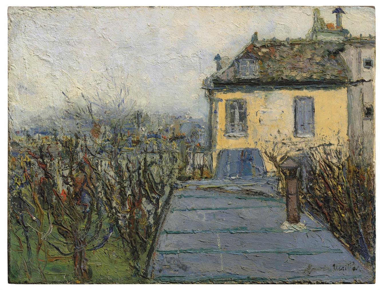 Maurice Utrillo-La Maison Chaudoin, Montmartre-1909