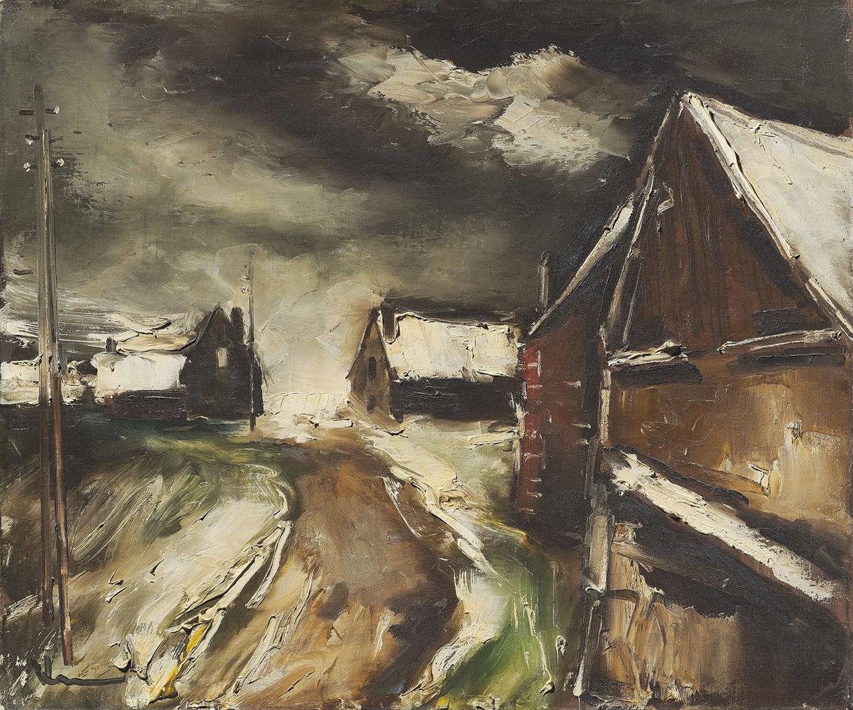 Maurice de Vlaminck-Paysage Dhiver-