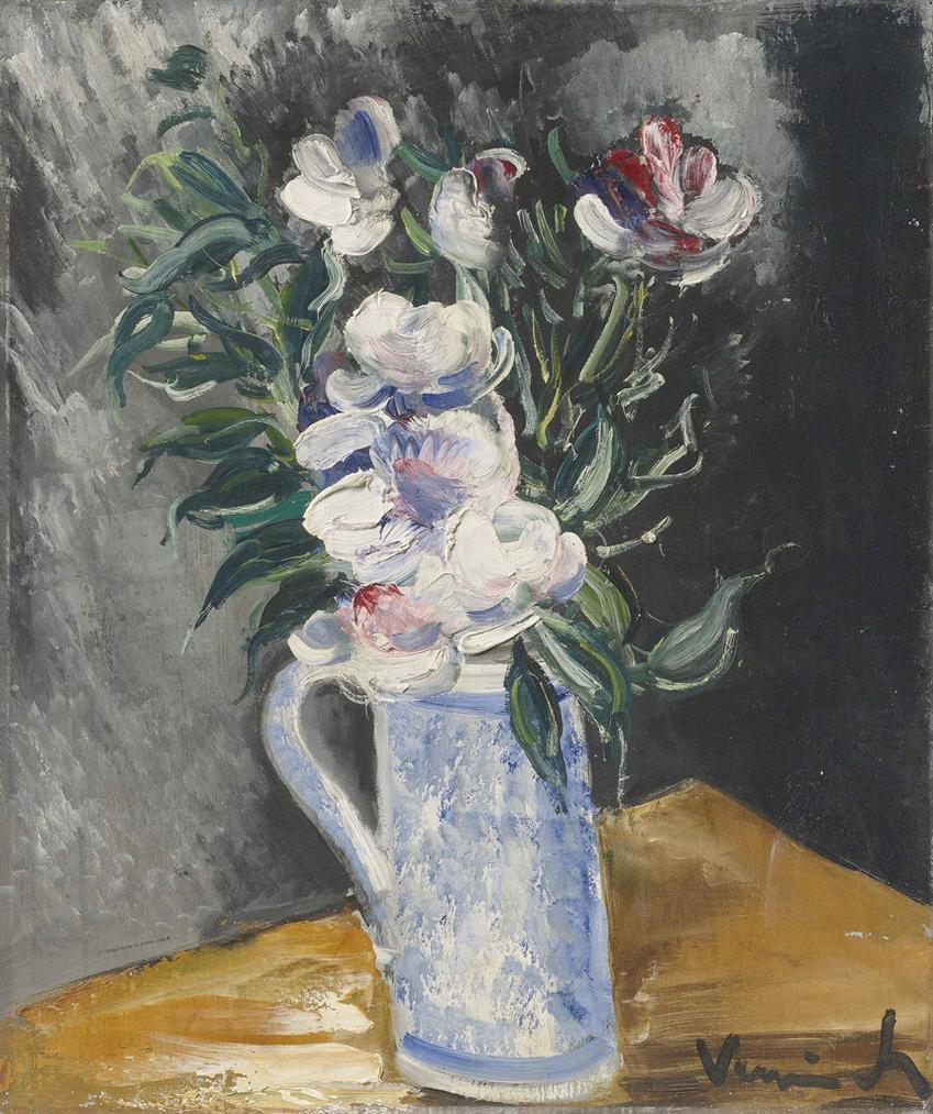 Maurice de Vlaminck-Fleurs Dans Un Vase Bleu-1930
