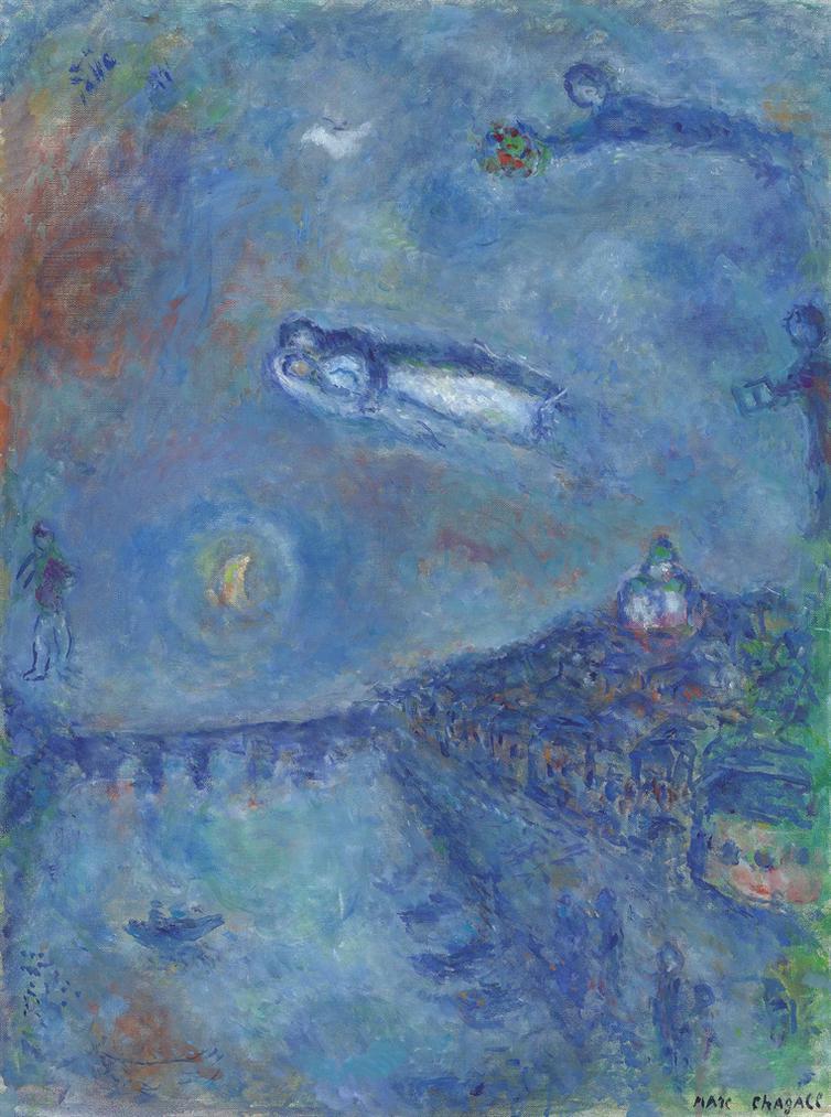 Marc Chagall-Le Souvenir Bleu-1982