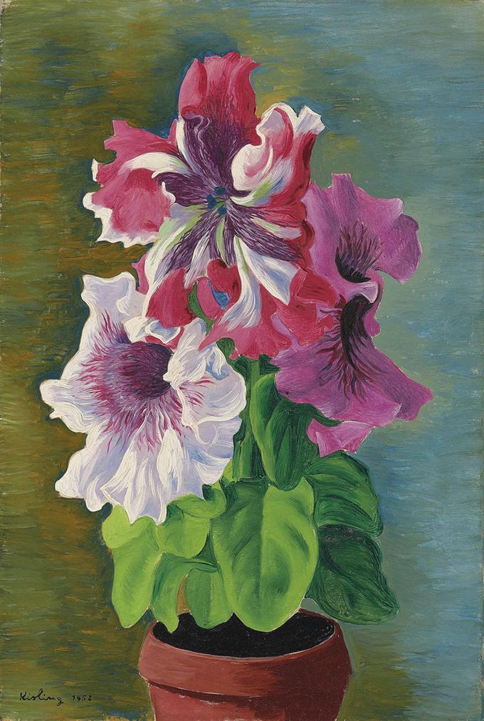 Moise Kisling-Orchidees-1952