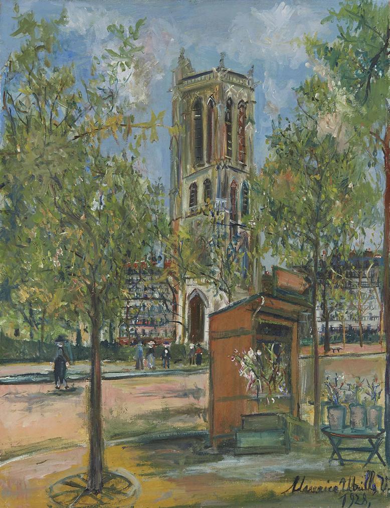 Maurice Utrillo-La Tour Saint-Jacques A Paris-1928