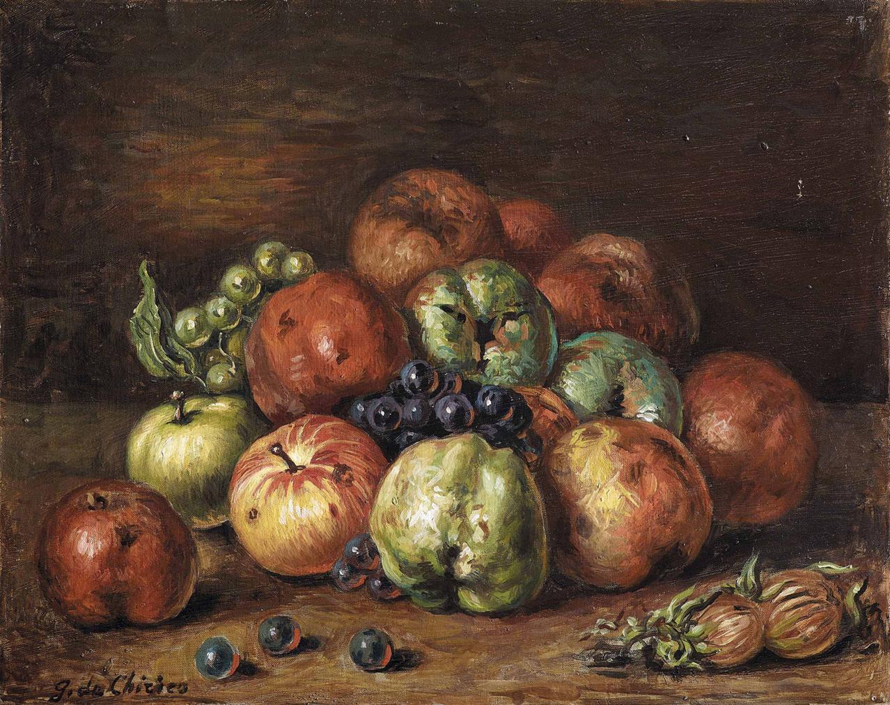 Giorgio de Chirico-Vita Silente Di Frutta-1959