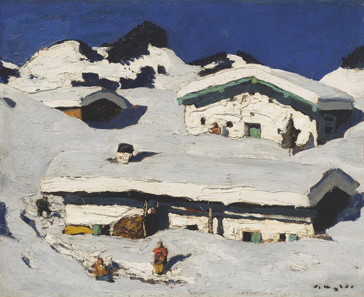 Alfons Walde-Winteridylle-1930
