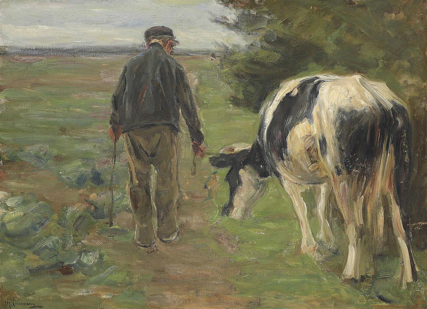 Max Liebermann-Bauer Mit Kuh-1897