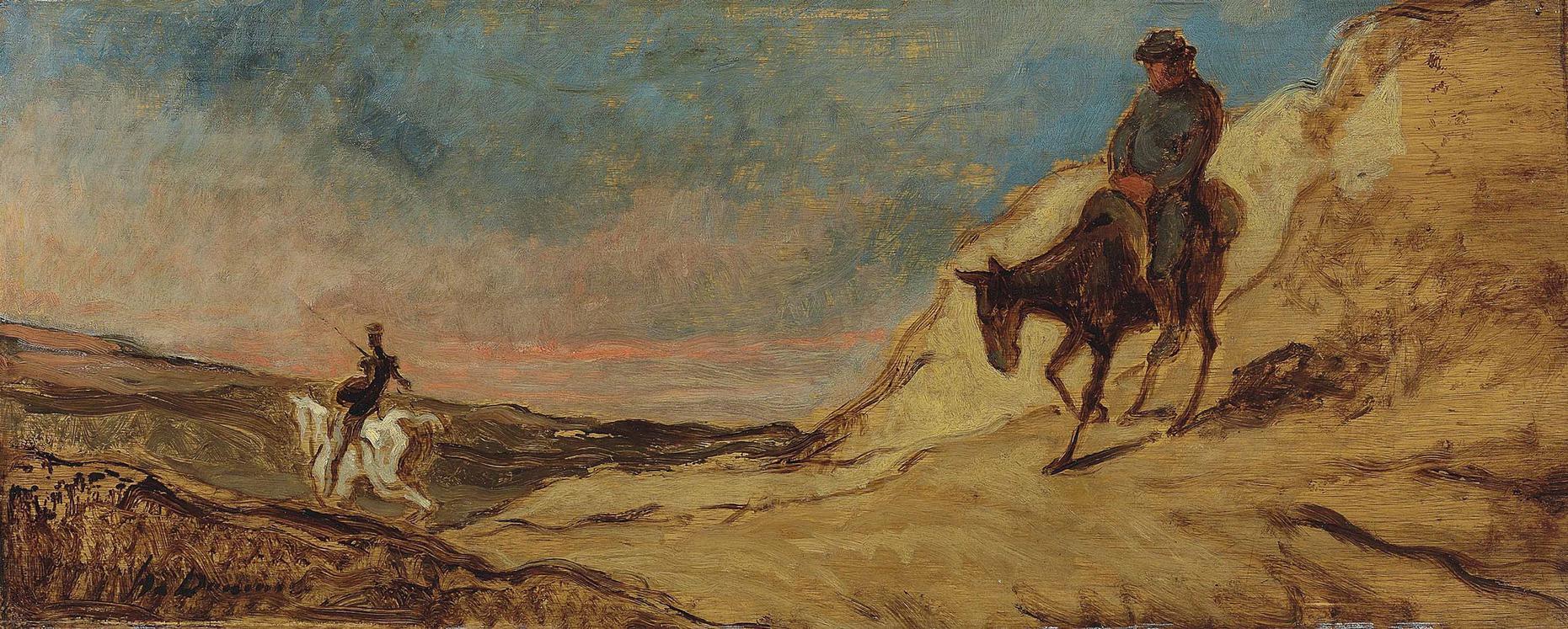 Honore Daumier-Don Quichotte Et Sancho Panza-