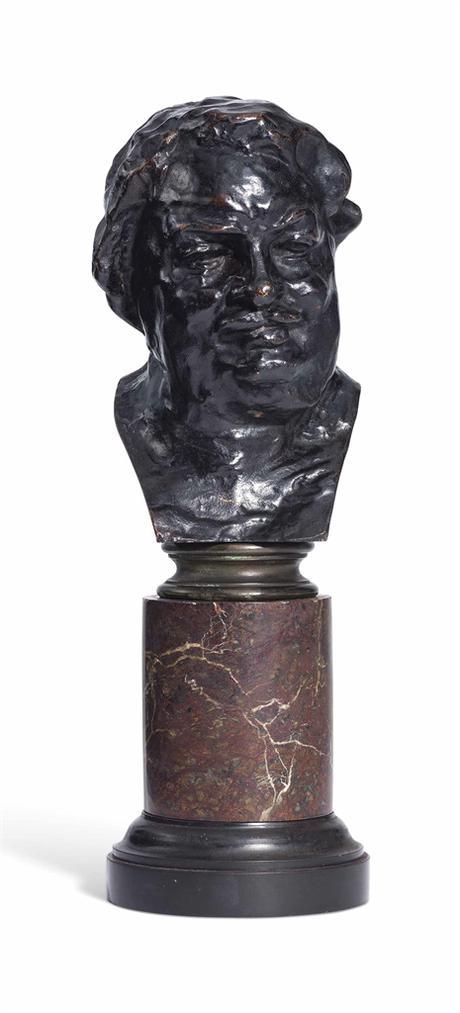 Auguste Rodin-Balzac, Etude Type C (Buste), 3Eme Version, Petit Modele-1933