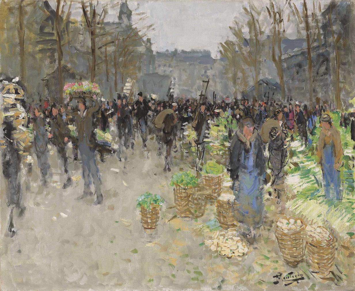 Pierre Eugene Montezin-Les Halles, Le Marche Aux Legumes-