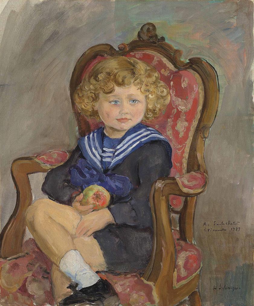 Henri Lebasque-Portrait D Emile Chabot Enfant-1923