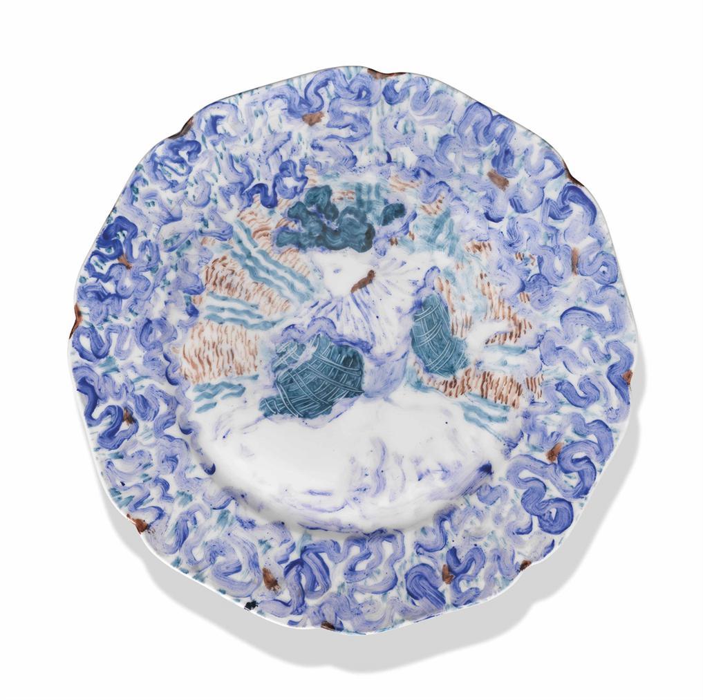 Edouard Vuillard-Femme Assise A La Blouse Bleue Et Blanche-1895