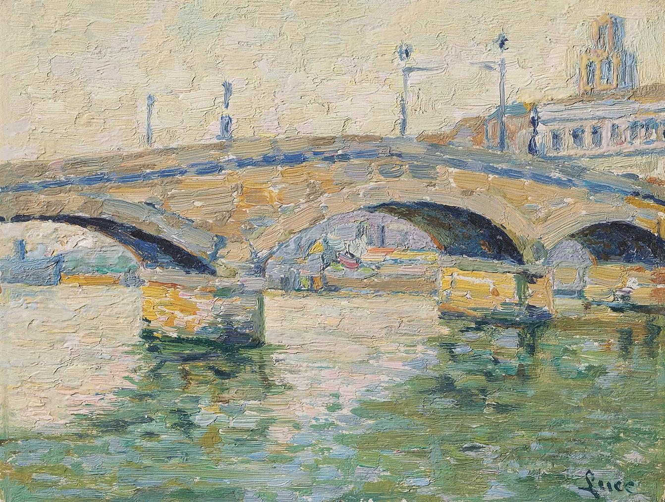 Maximilien Luce-Rouen, Le Pont De Pierre-1890