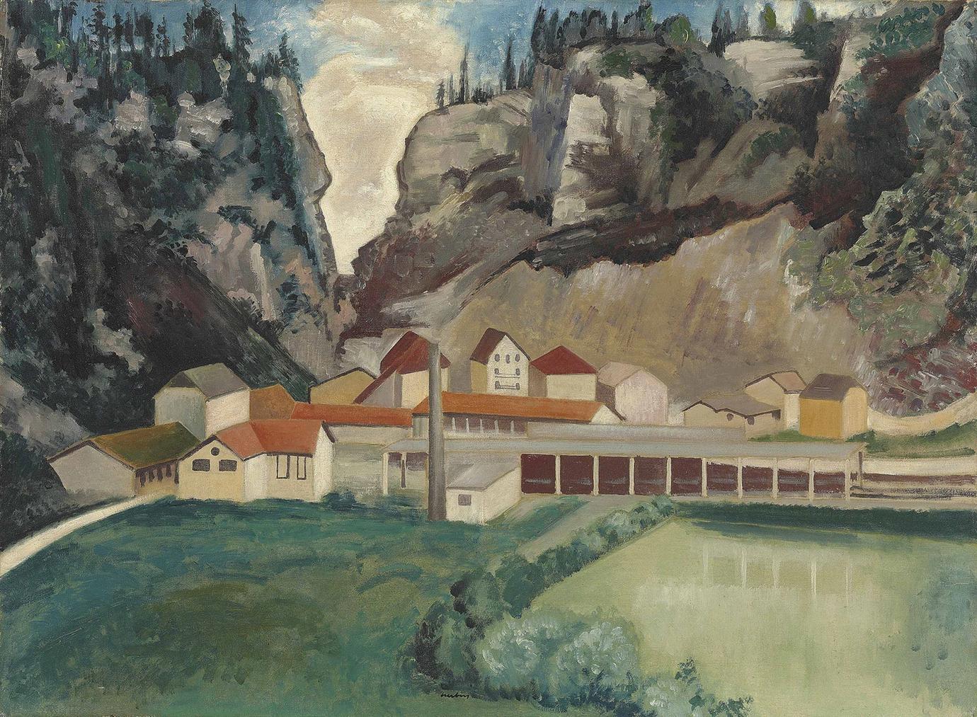 Auguste Herbin-Paysage, La Loue A Moutier-Haute-Pierre-1923