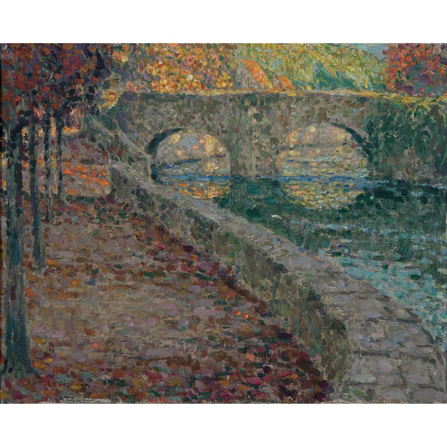 Henri Eugene Le Sidaner-Le Vieux Pont Sur Lelle, Quimperle-
