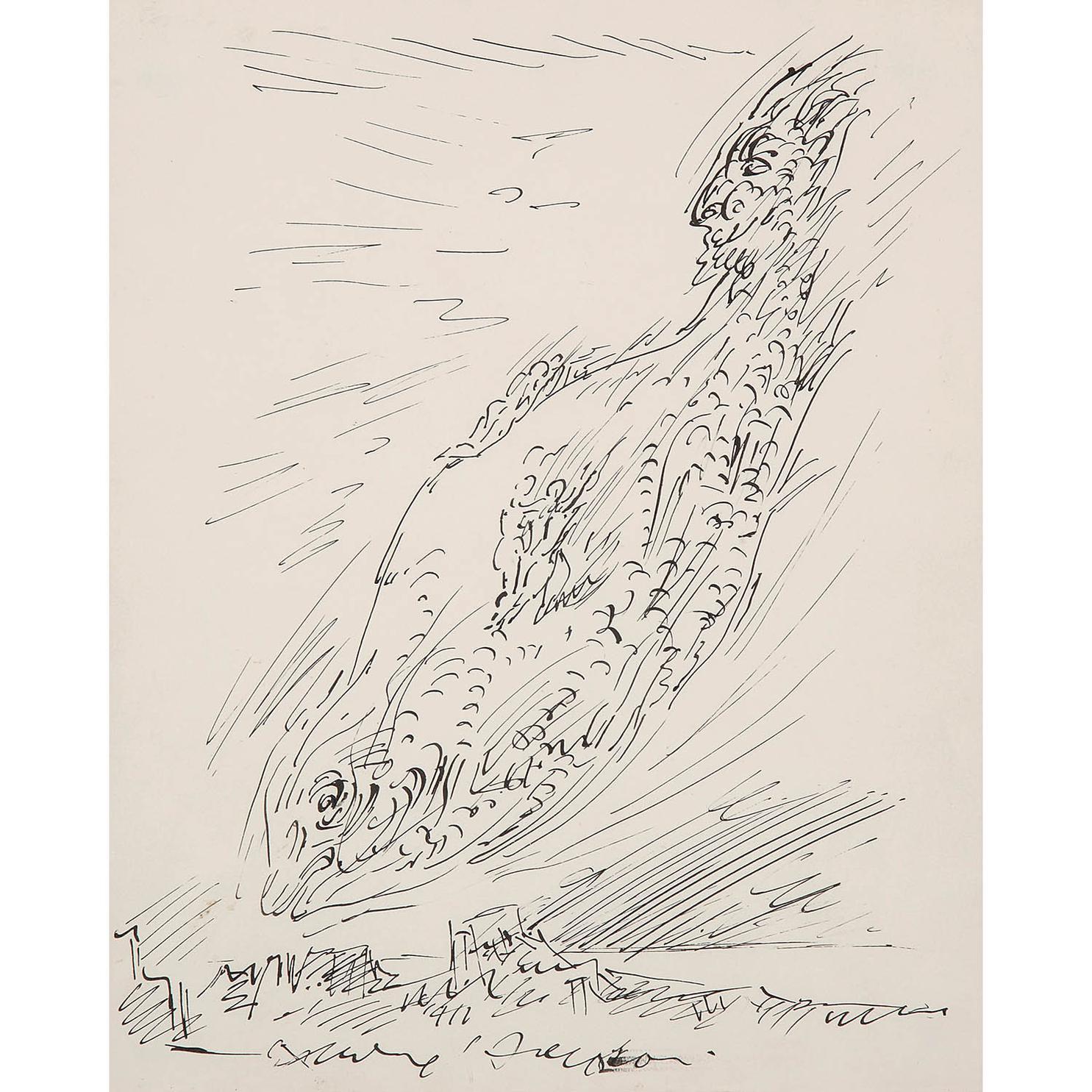 Andre Masson-Composition Surrealiste-