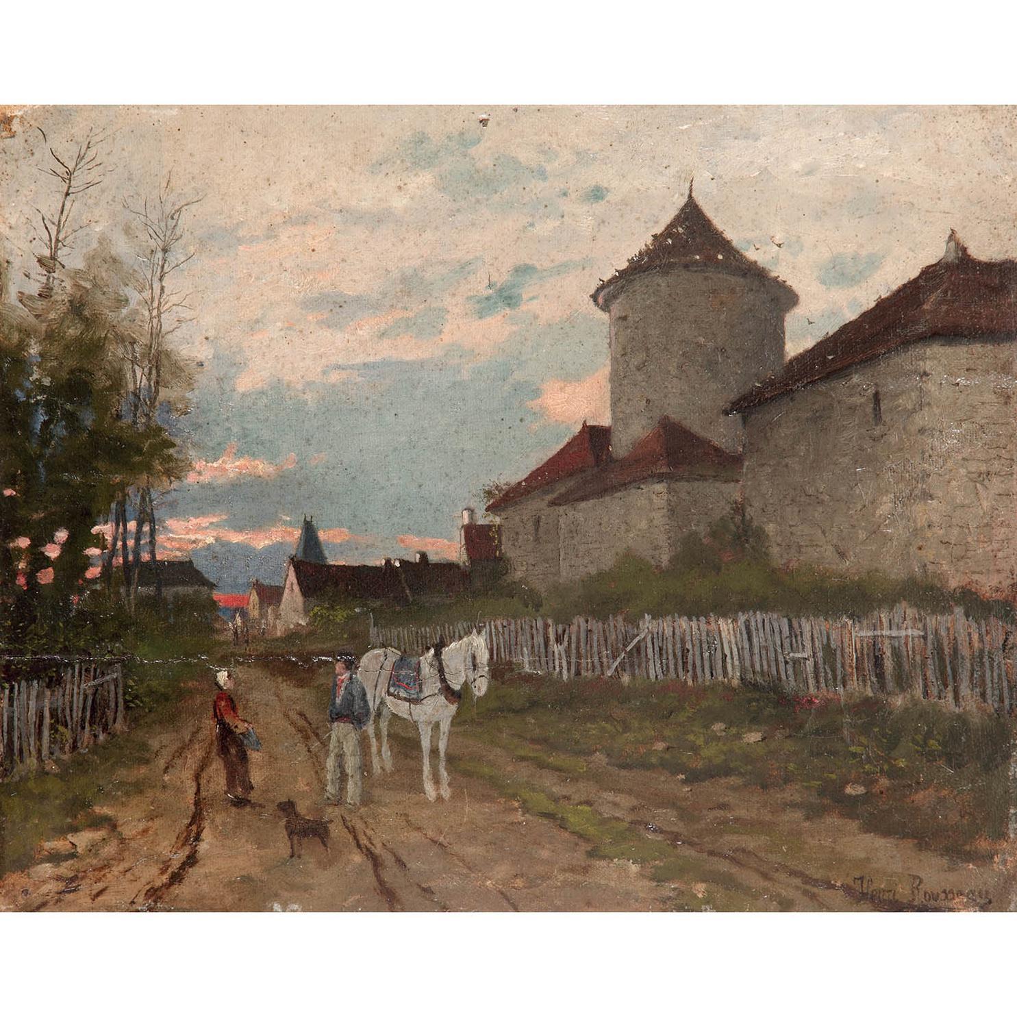 Henri Rousseau-Scene Champetre Pres Dun Manoir-