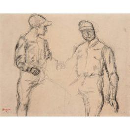 Edgar Degas-Deux Jockeys-1889
