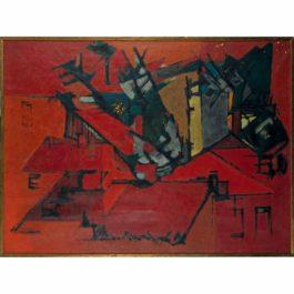 Bernard Dufour-Fumees Sur Les Toits-1954