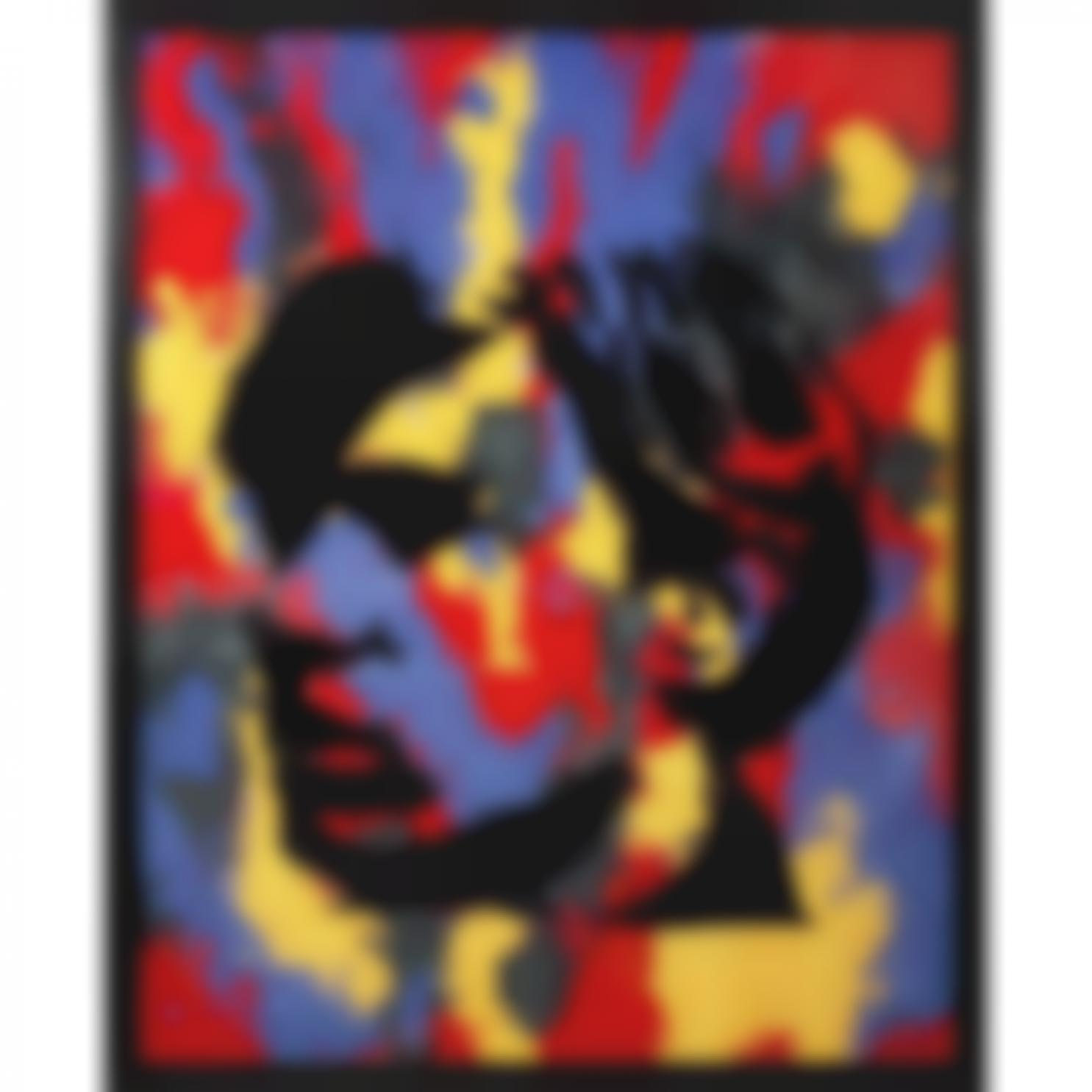 Vik Muniz-Self-Portrait (After Warhol) (From Pictures Of Pigment)-1999