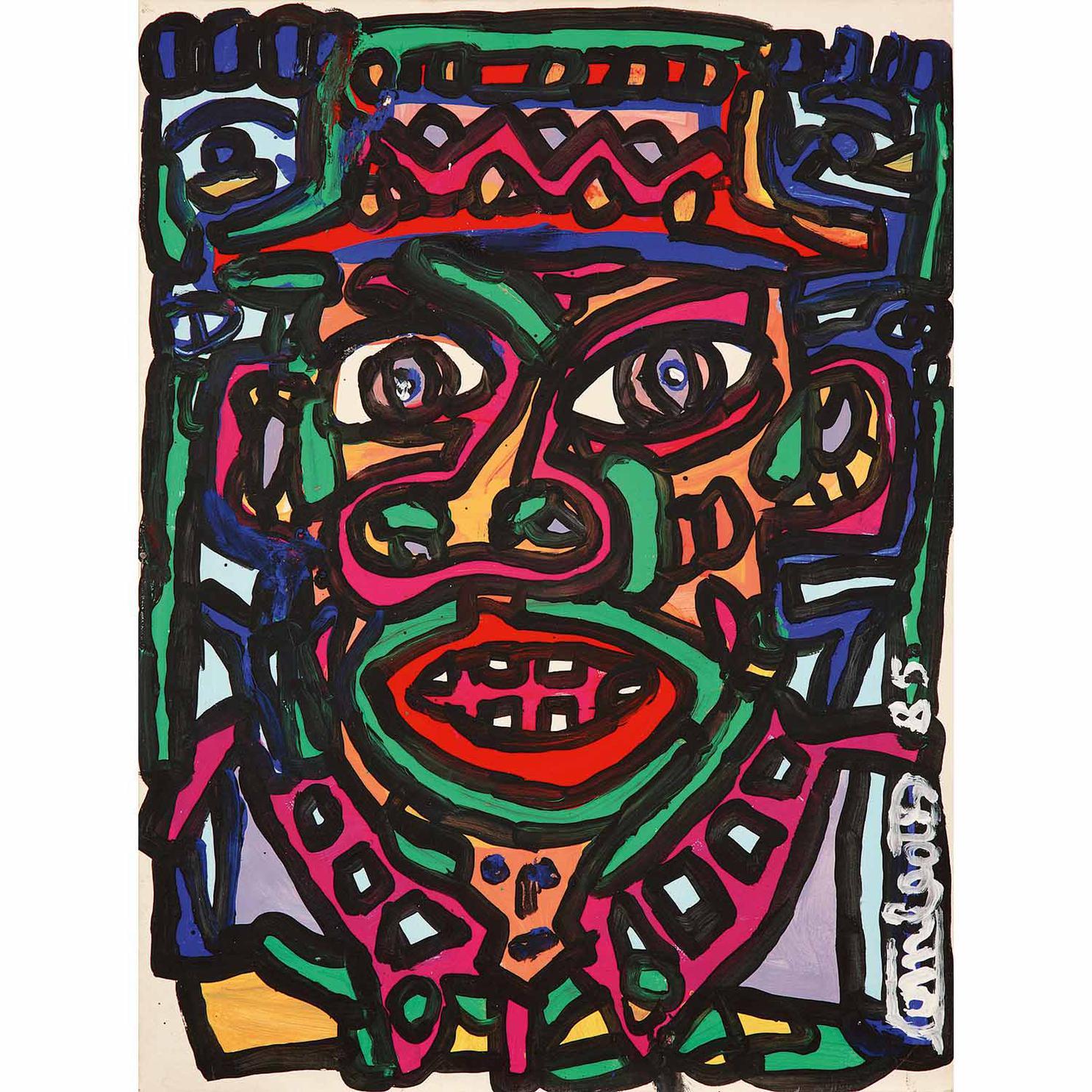 Robert Combas-Un Gros Trait Noir-1985