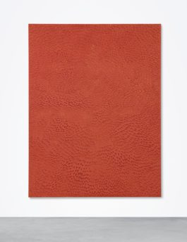 Jennifer Guidi-Untitled (Red Sand Sf #1E, Yellow Ground)-2016