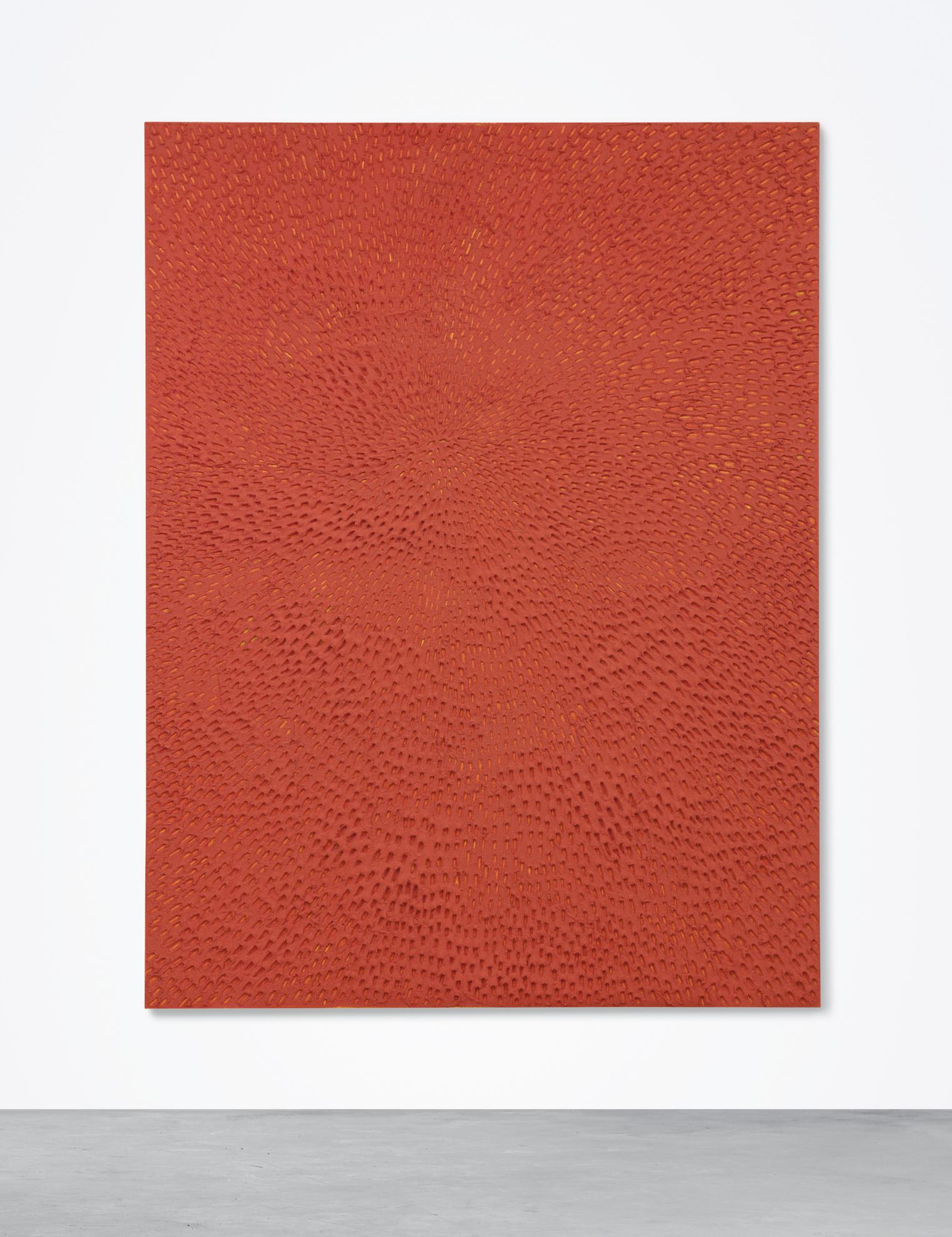 Jennifer Guidi-Untitled (Red Sand Sf #1E, Yellow Ground)-2016