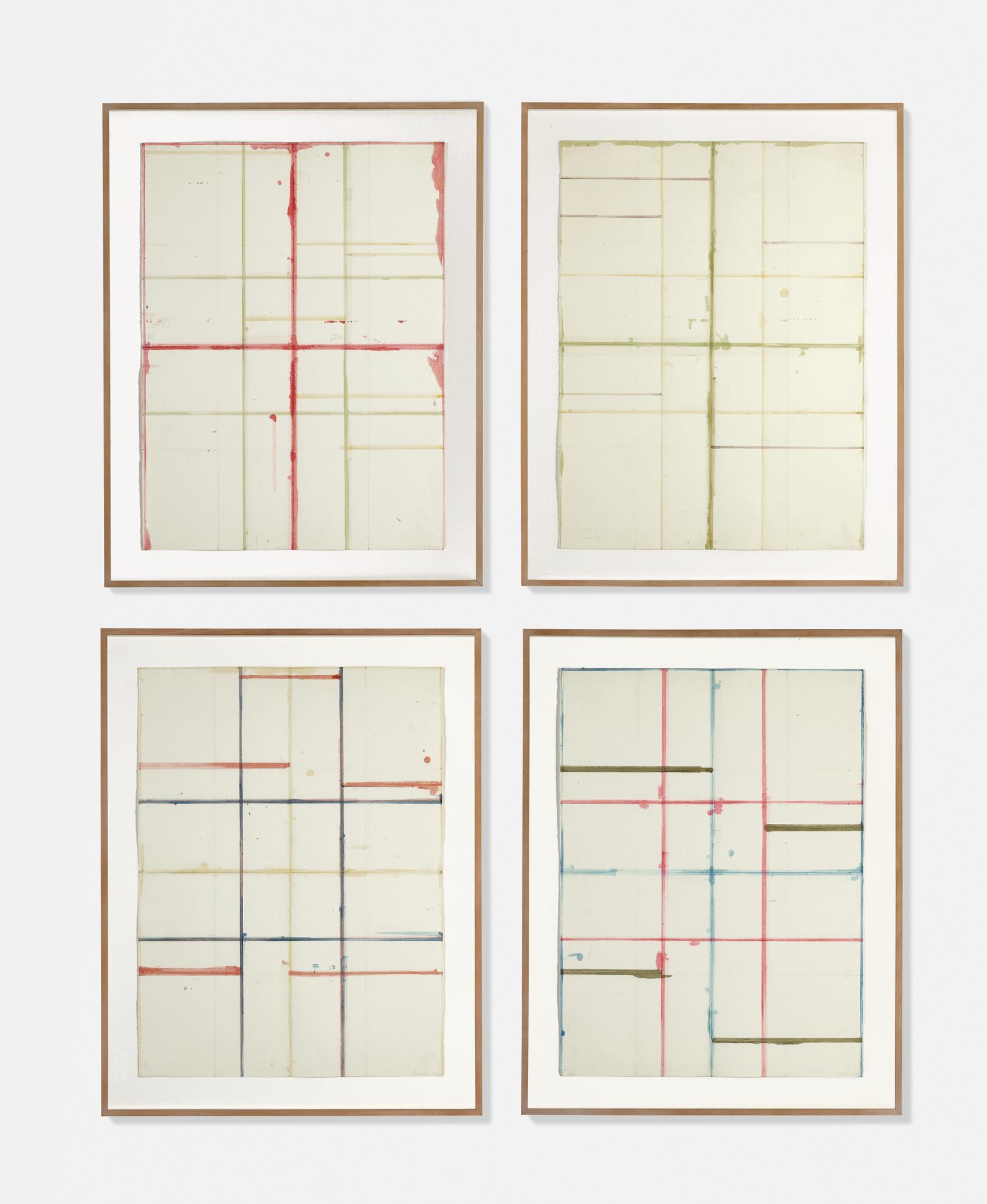 Brice Marden-Basel Drawings (Window Studies No. 1, 2, 4, 5)-1983