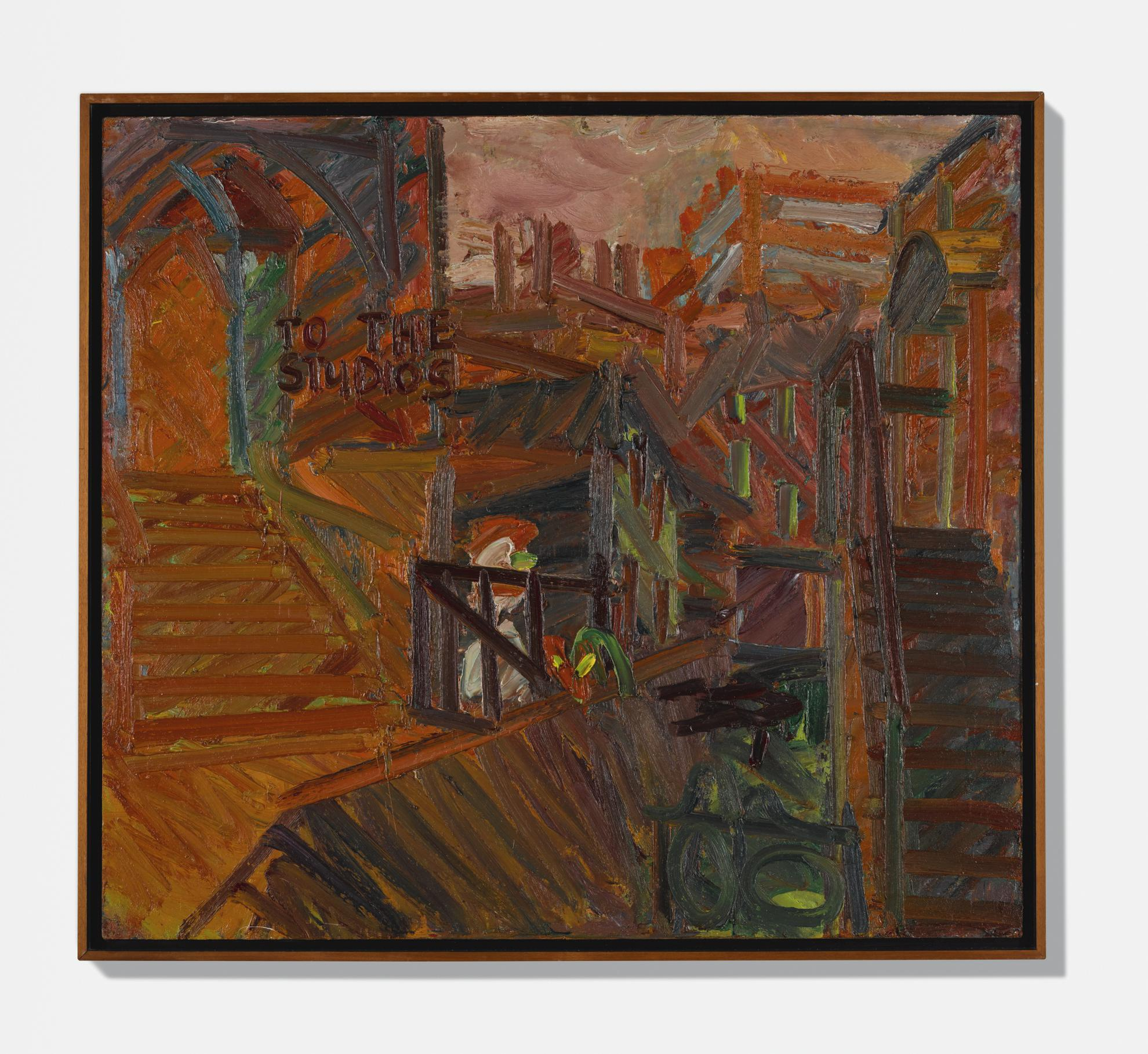 Frank Auerbach-To The Studios-1977