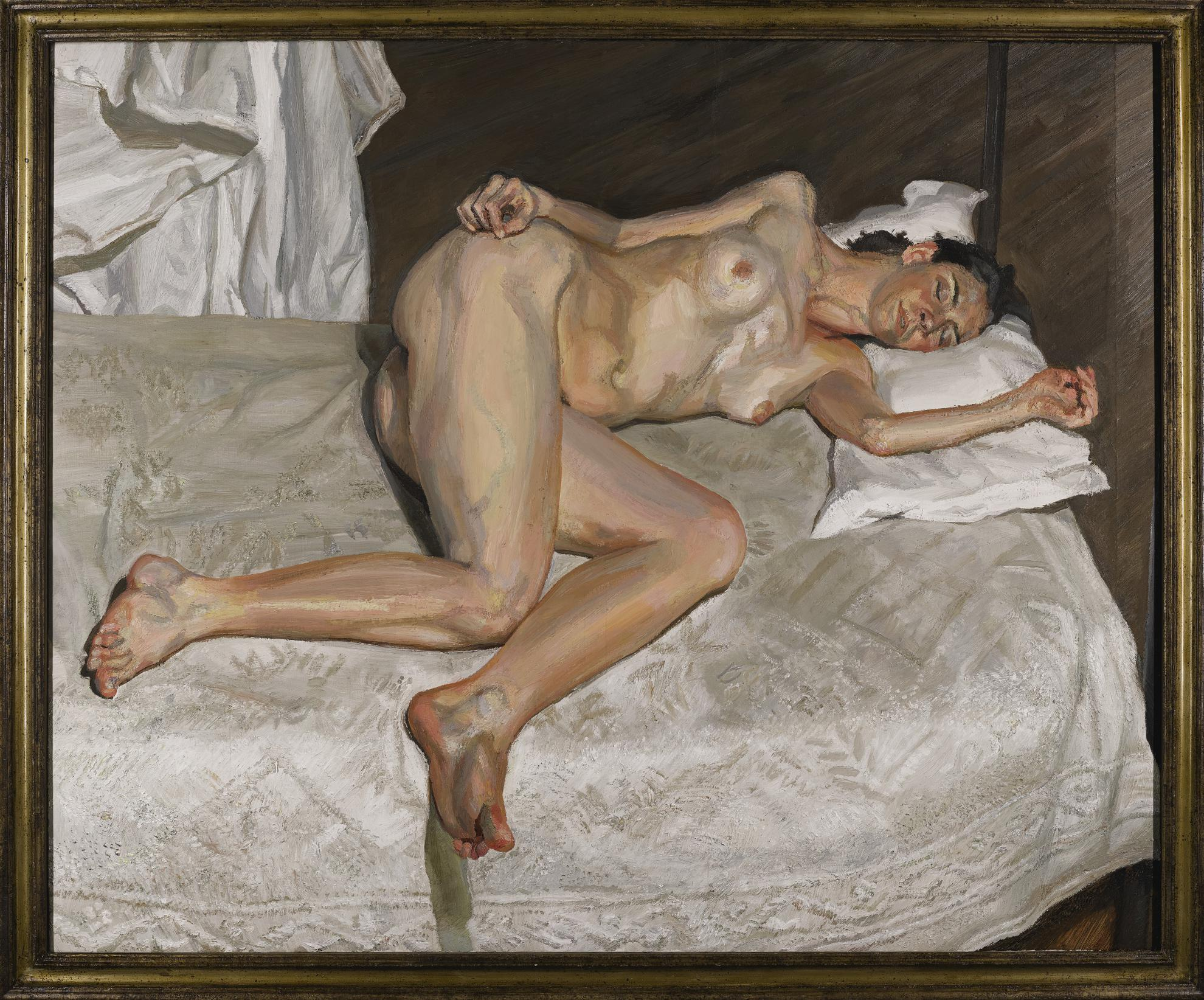 Lucian Freud-Portrait On A White Cover-2003